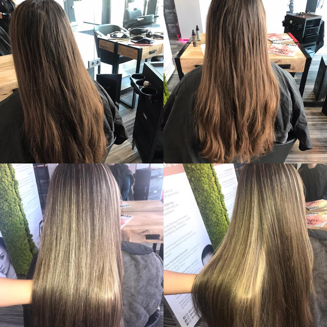 Before And after Hair treatment | solar zonnstudio Middelburg